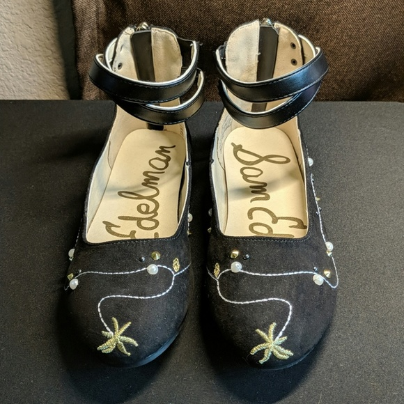 c022aa6a2e6388 Sam Edelman Felicia Josie Black Shoes Flats Size 2